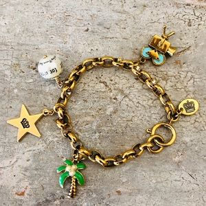 ♥️ Juicy Couture ♥️ Gold Charm Bracelet